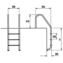 Escalera Filinox Estandard 3 peldaños