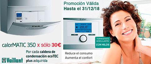 Promoción Termostato calormatic a mitad de precio al comprar caldera vaillant