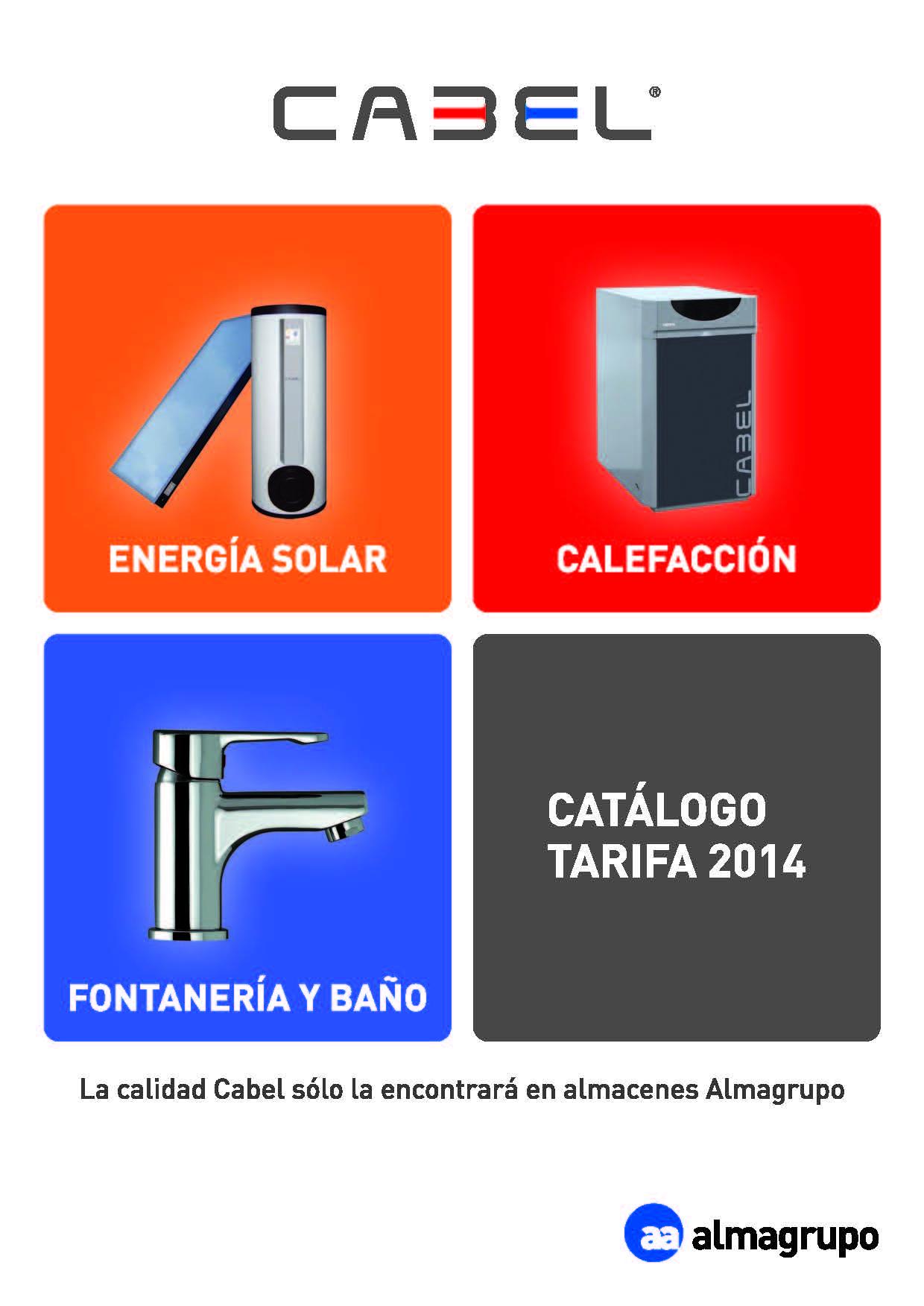 Catálogo-Tarifa CABEL 2014