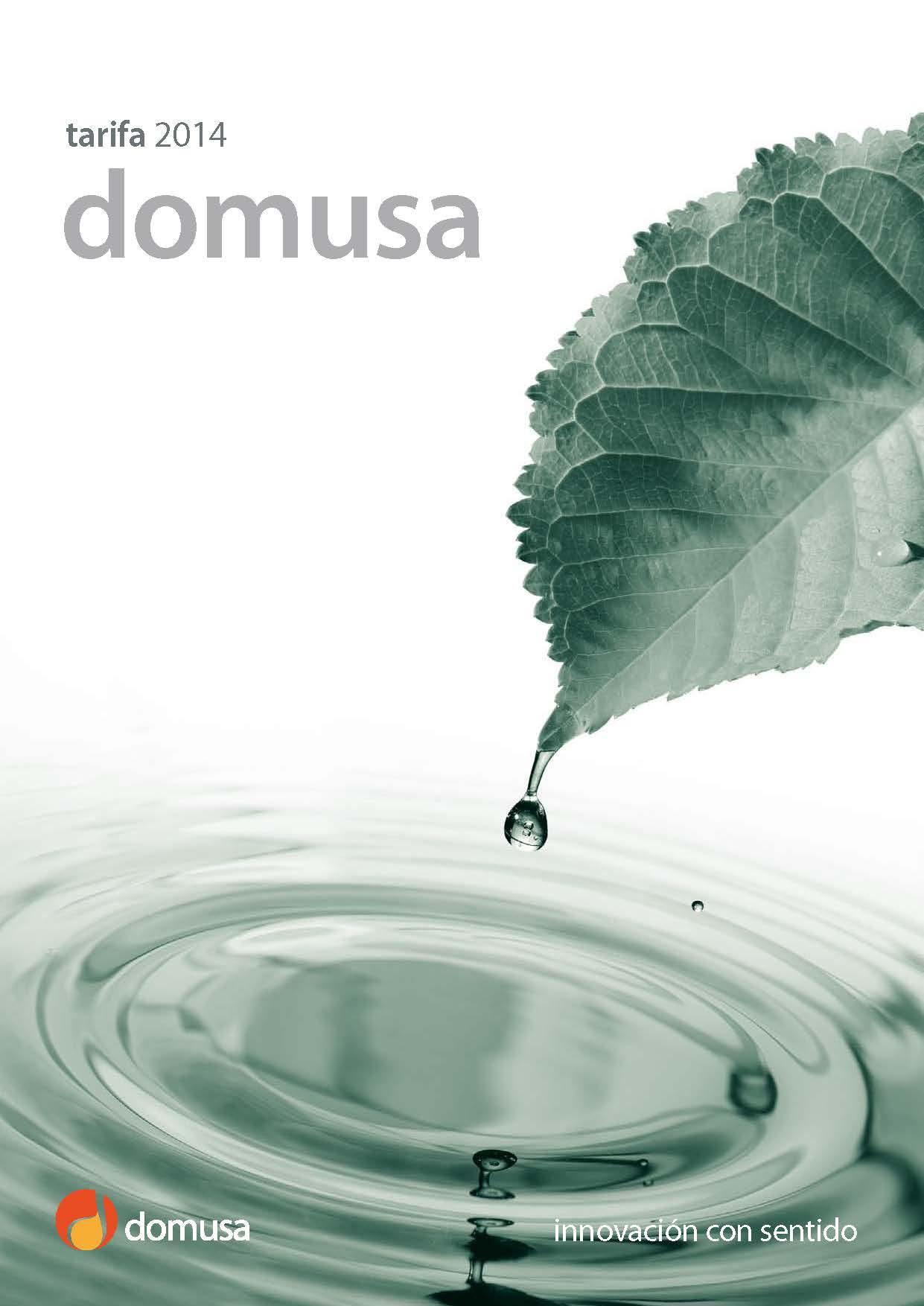 Tarifa DOMUSA 2014