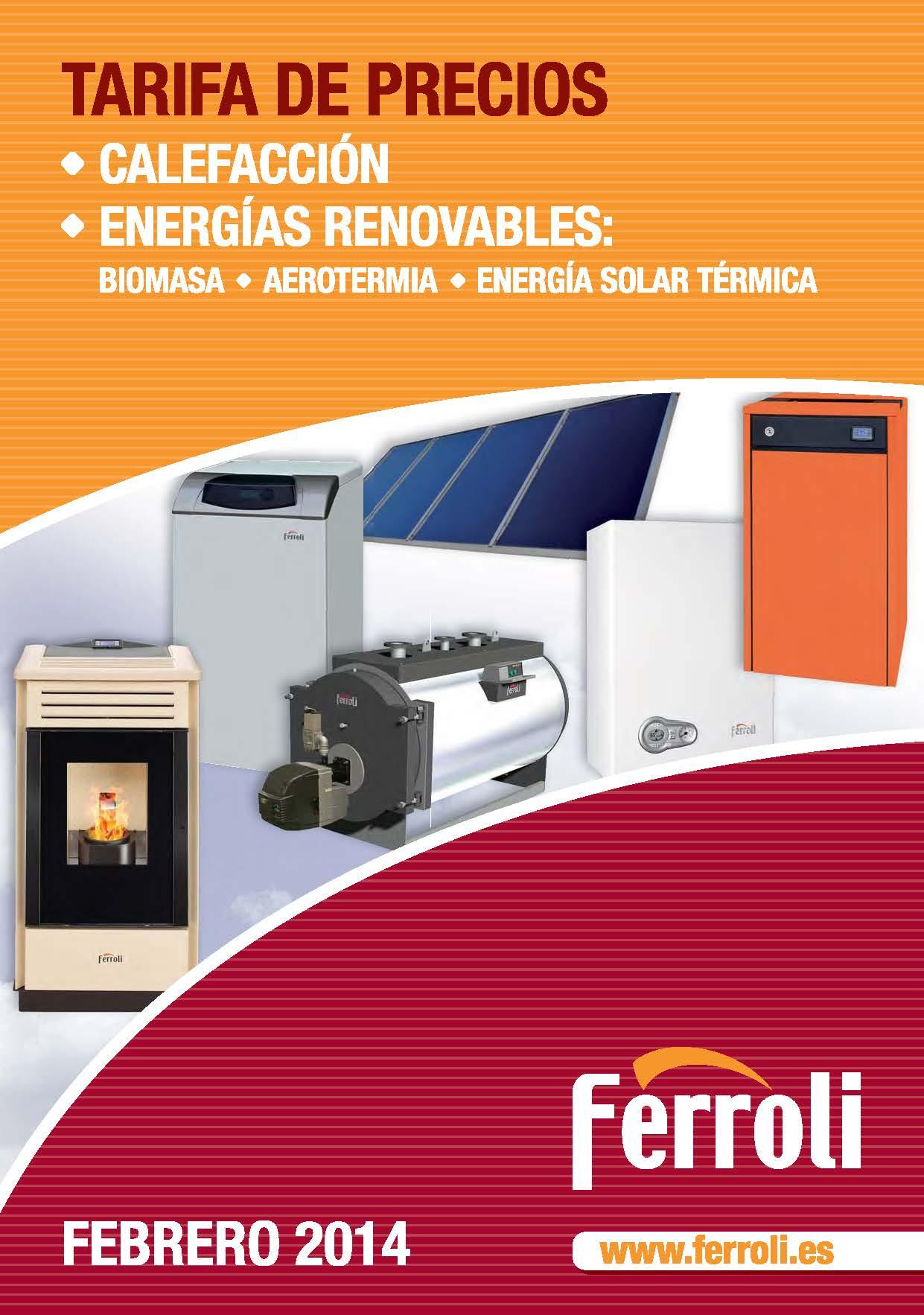 Tarifa calefacción FERROLI 2014
