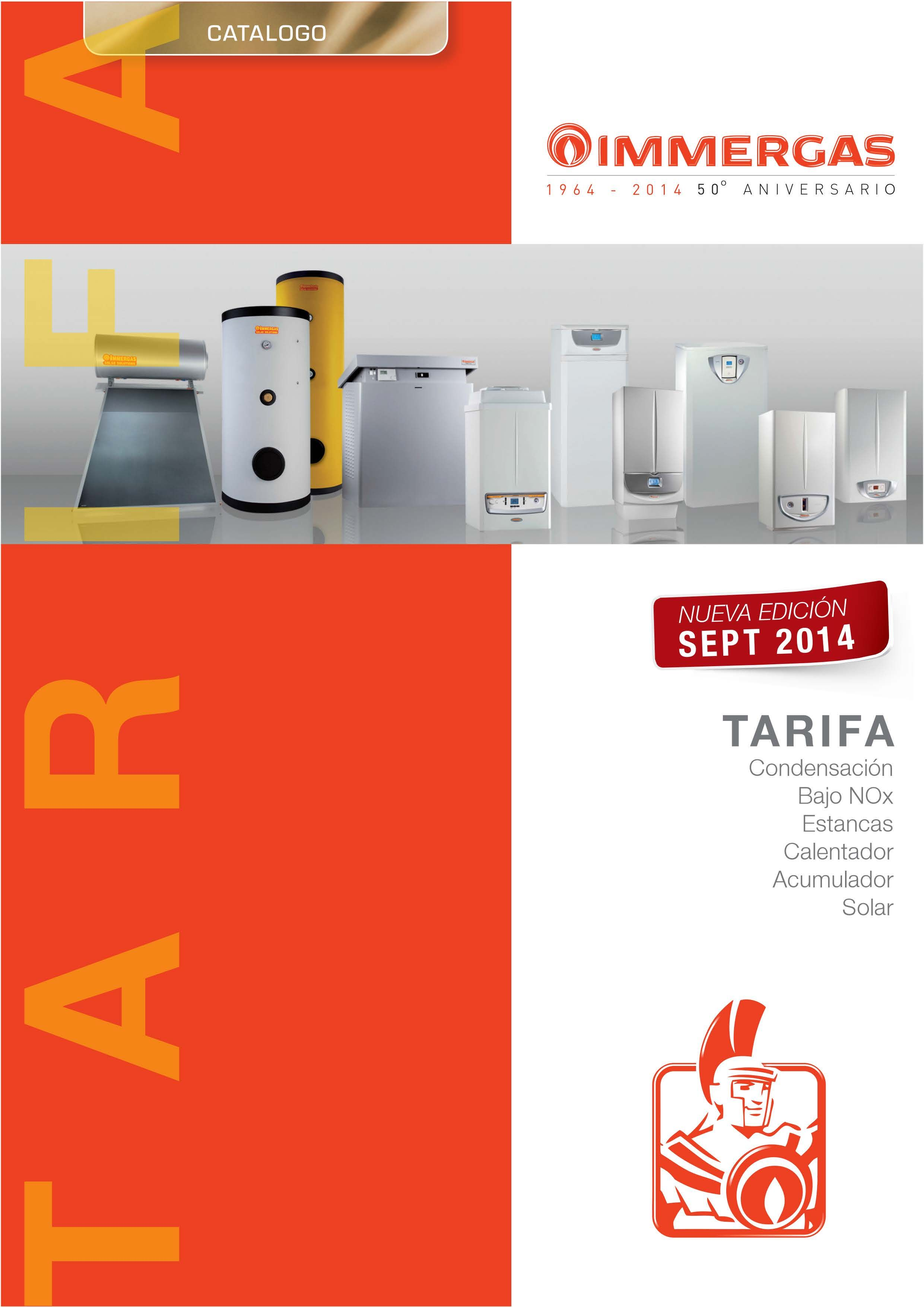 Catálogo-Tarifa IMMERGAS 2014