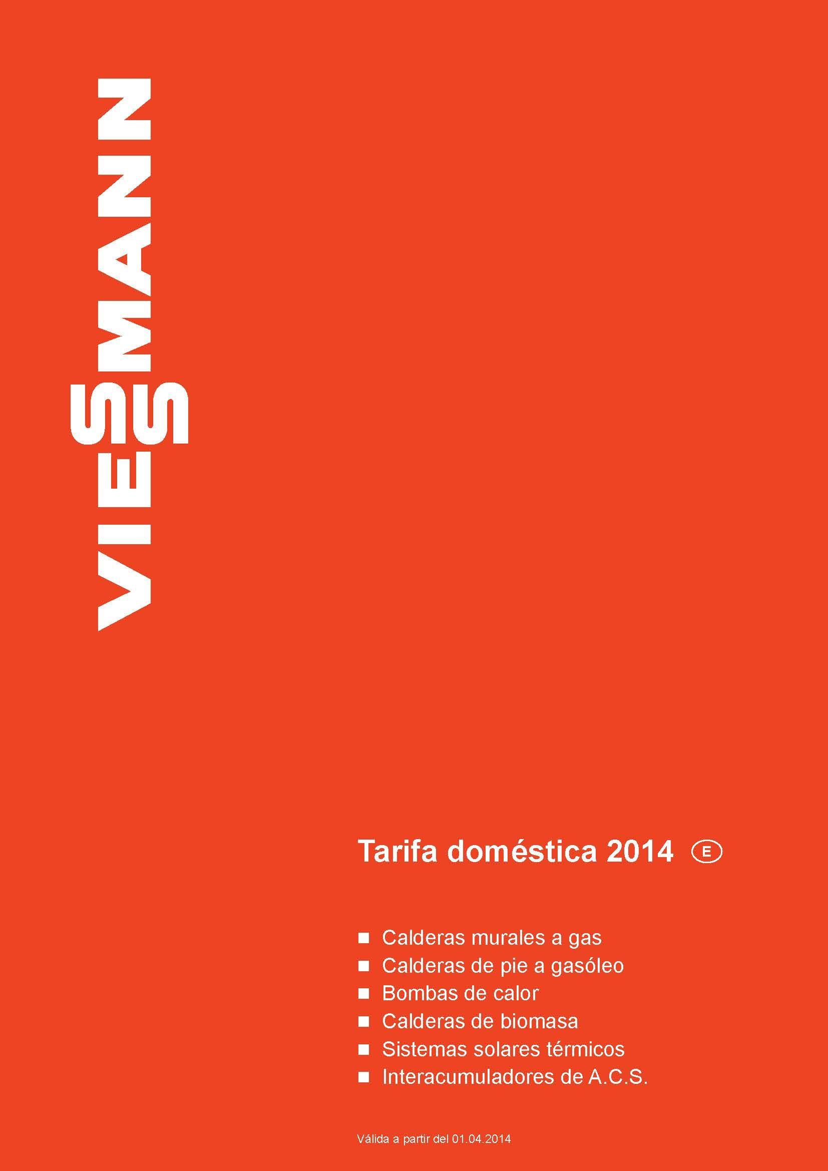 Tarifa VIESSMANN 2014