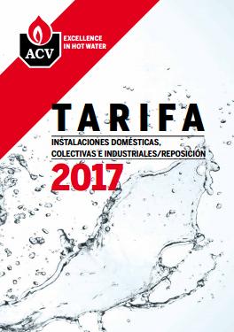 Catálogo-Tarifa ACV 2017