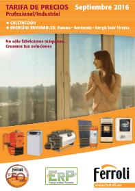 Catálogo Tarifa Ferroli 2016 Septiembre