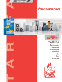 Catálogo-Tarifa Immergas 2016