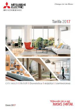 Catálogo-Tarifa Mitsubishi Electric 2017