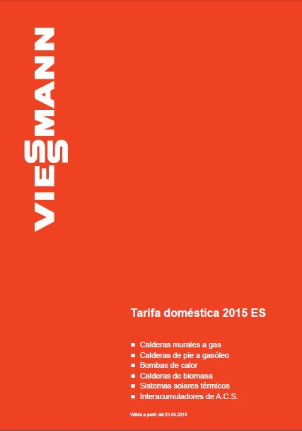 Catálogo-Tarifa Viessmann 2015