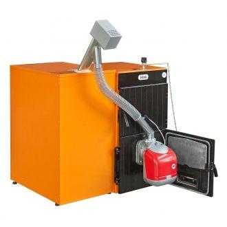 Conjunto Ferroli SFL 3 Caldera Policombustible, Quemador, Transformación y Contenedor