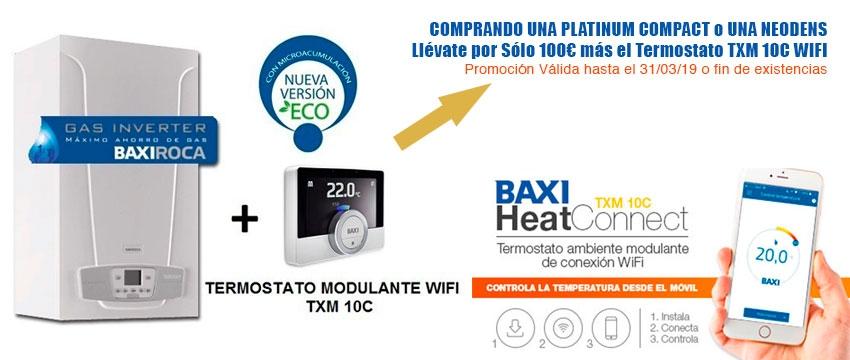 Promoción Baxi con Termostato Wifi